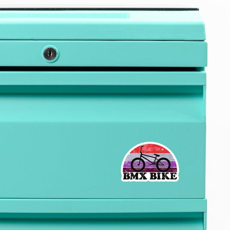 BMX Bike Vintage Colors Accessories Magnet by The Wandering Fools Artist Shop