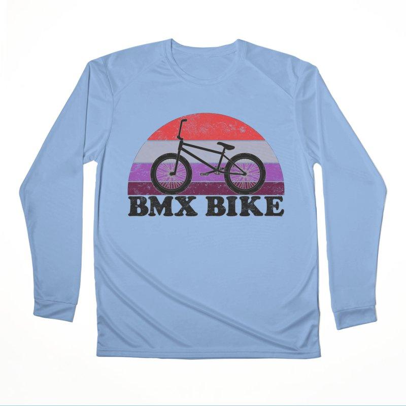 BMX Bike Vintage Colors Women's Longsleeve T-Shirt by The Wandering Fools Artist Shop