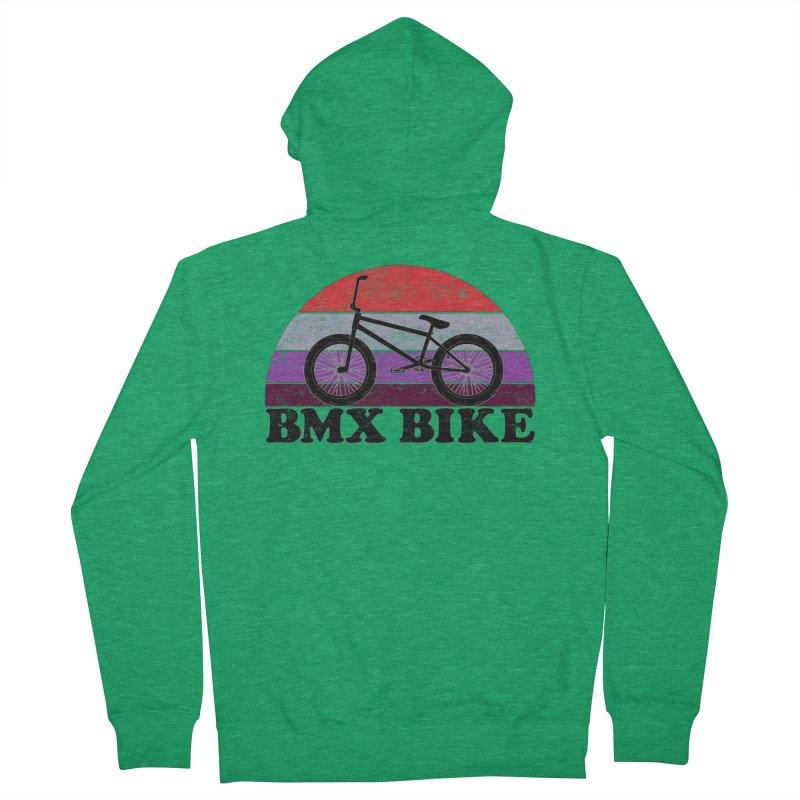 BMX Bike Vintage Colors Men's Zip-Up Hoody by The Wandering Fools Artist Shop