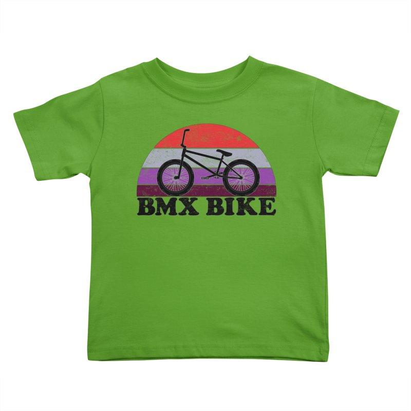 BMX Bike Vintage Colors Kids Toddler T-Shirt by The Wandering Fools Artist Shop