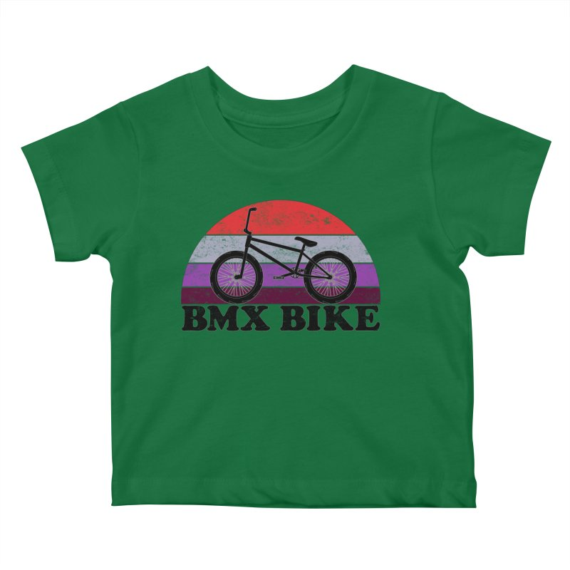 BMX Bike Vintage Colors Kids Baby T-Shirt by The Wandering Fools Artist Shop