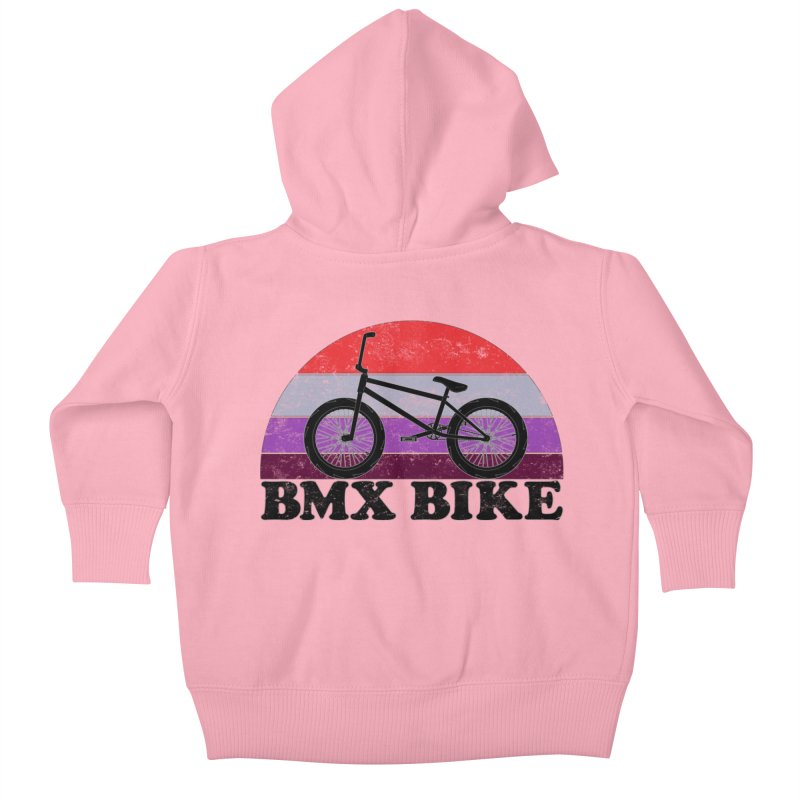 BMX Bike Vintage Colors Kids Baby Zip-Up Hoody by The Wandering Fools Artist Shop