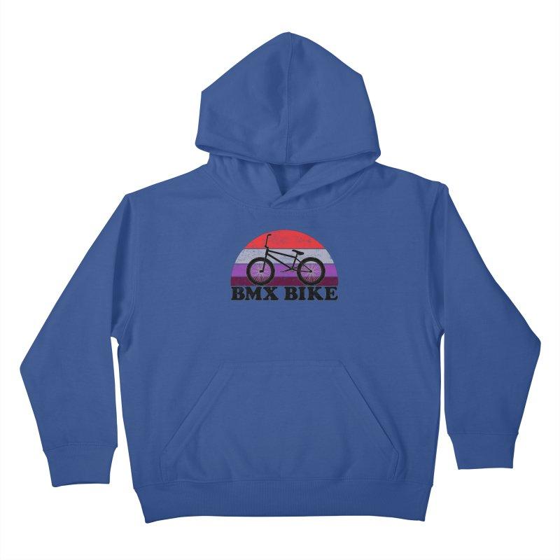 BMX Bike Vintage Colors Kids Pullover Hoody by The Wandering Fools Artist Shop