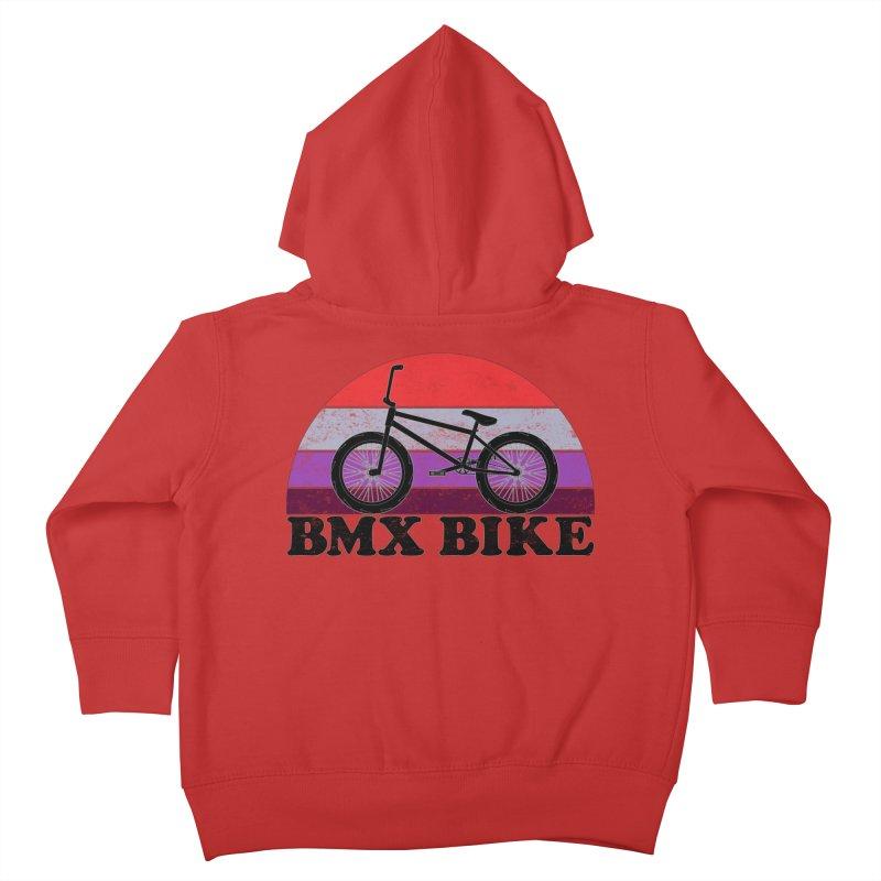 BMX Bike Vintage Colors Kids Toddler Zip-Up Hoody by The Wandering Fools Artist Shop
