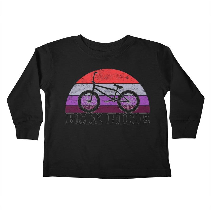 BMX Bike Vintage Colors Kids Toddler Longsleeve T-Shirt by The Wandering Fools Artist Shop