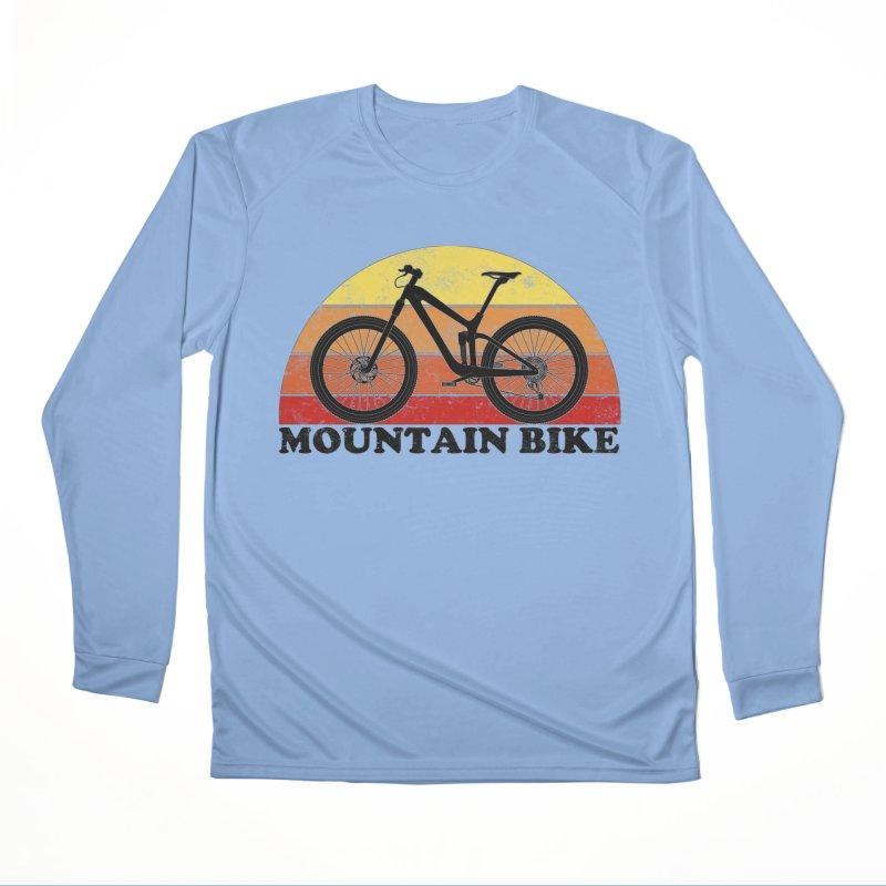 Mountain Bike Vintage Colors Women's Longsleeve T-Shirt by The Wandering Fools Artist Shop