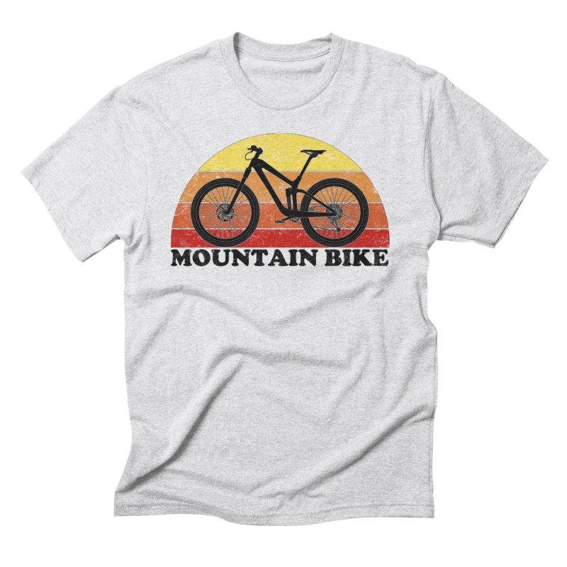Mountain Bike Vintage Colors Men's T-Shirt by The Wandering Fools Artist Shop