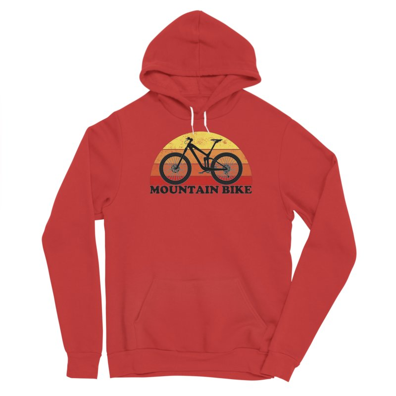 Mountain Bike Vintage Colors Women's Pullover Hoody by The Wandering Fools Artist Shop