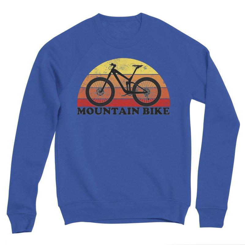 Mountain Bike Vintage Colors Women's Sweatshirt by The Wandering Fools Artist Shop