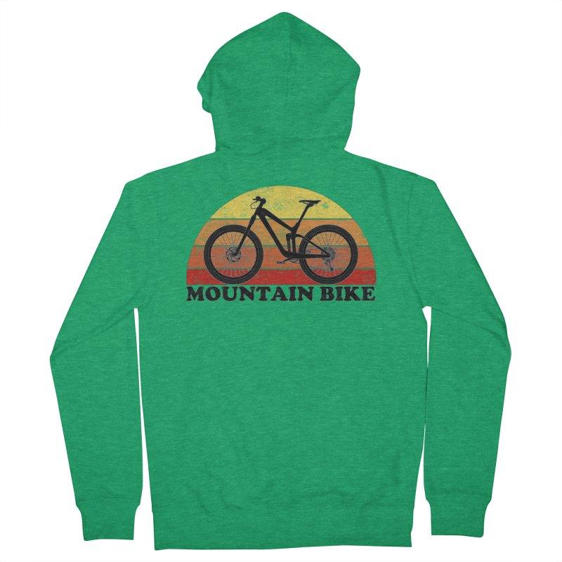 Mountain Bike Vintage Colors Men's Zip-Up Hoody by The Wandering Fools Artist Shop
