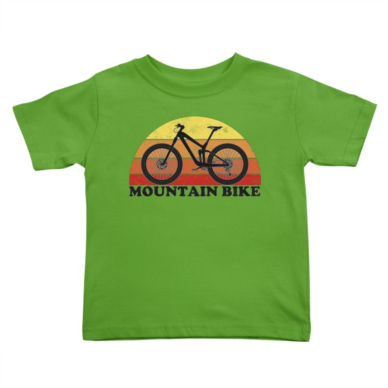 Mountain Bike Vintage Colors Kids Toddler T-Shirt by The Wandering Fools Artist Shop