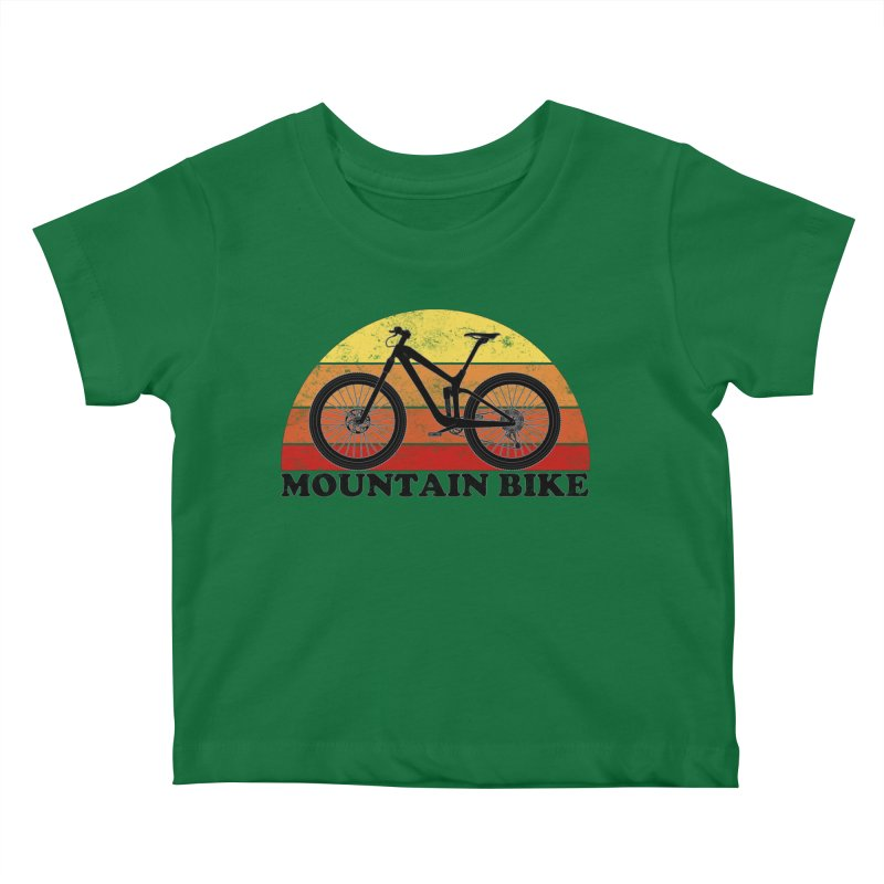 Mountain Bike Vintage Colors Kids Baby T-Shirt by The Wandering Fools Artist Shop