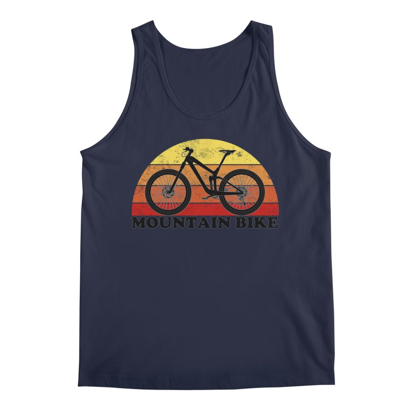 Mountain Bike Vintage Colors Men's Tank by The Wandering Fools Artist Shop