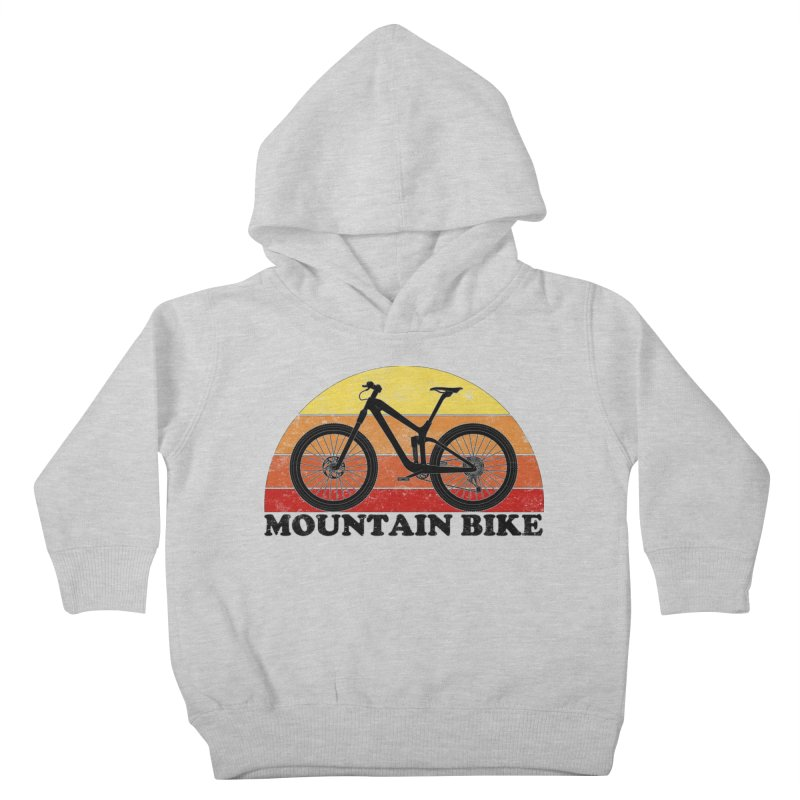 Mountain Bike Vintage Colors Kids Toddler Pullover Hoody by The Wandering Fools Artist Shop