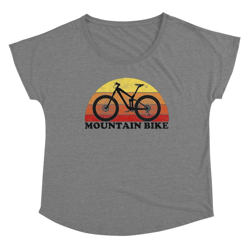 Mountain Bike Vintage Colors Women's Scoop Neck by The Wandering Fools Artist Shop