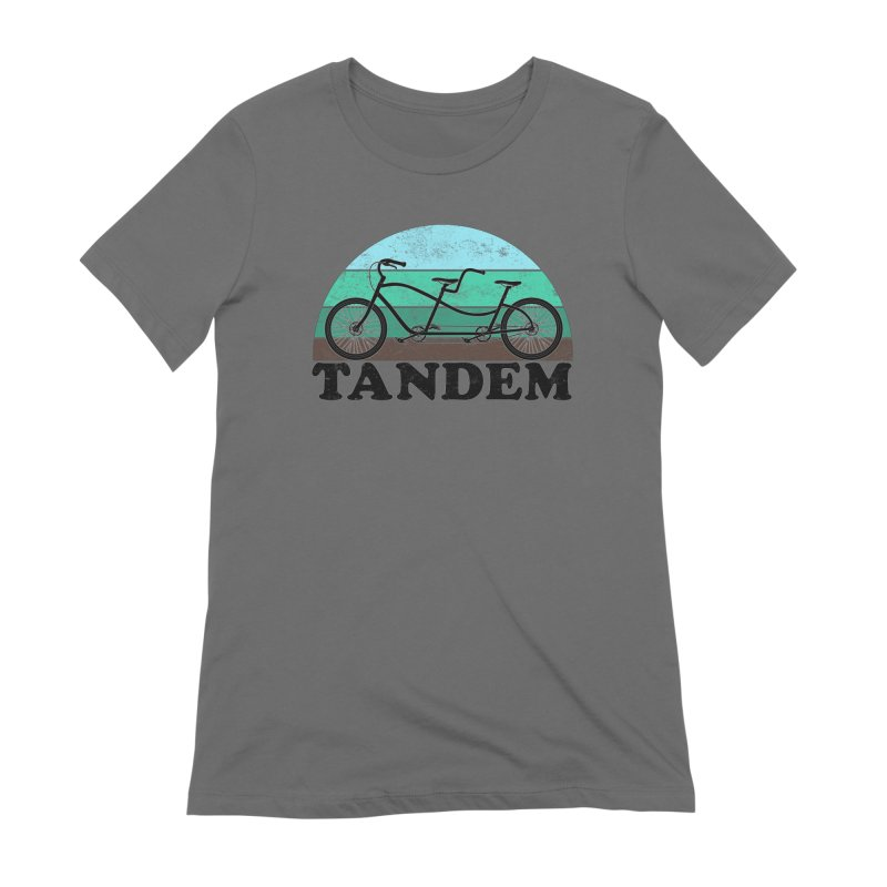 Tandem Bicycle Vintage Colors Women's T-Shirt by The Wandering Fools Artist Shop