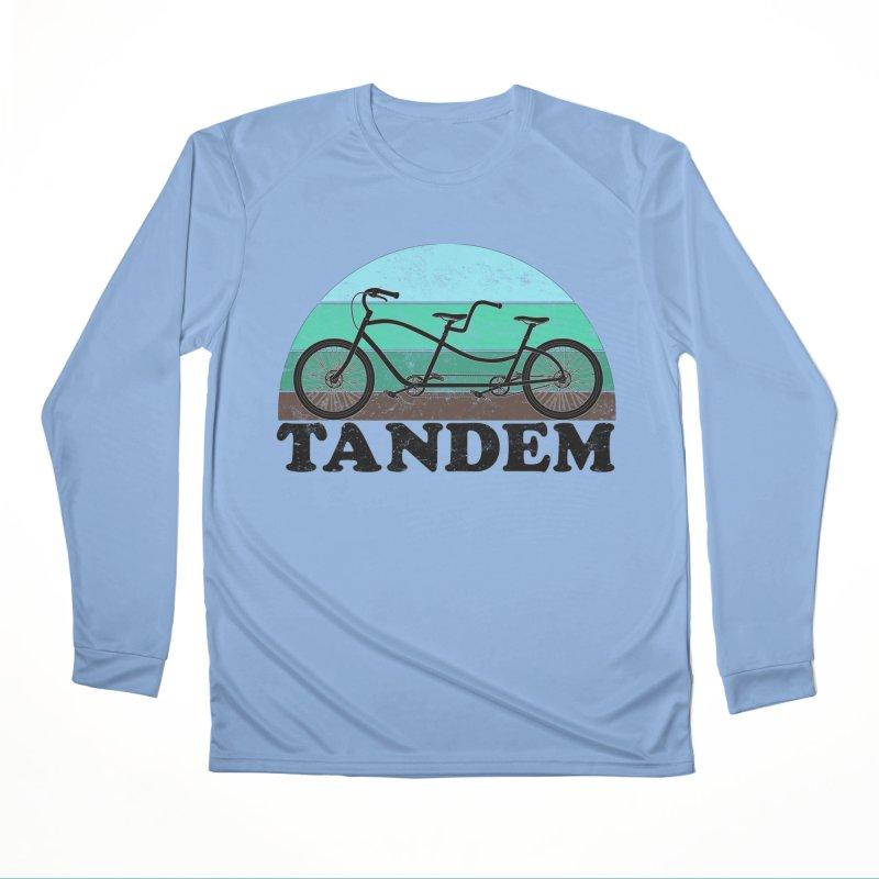Tandem Bicycle Vintage Colors Women's Longsleeve T-Shirt by The Wandering Fools Artist Shop