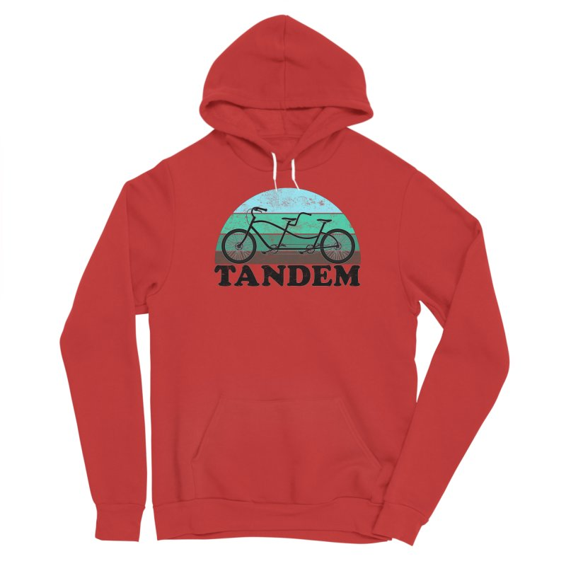 Tandem Bicycle Vintage Colors Women's Pullover Hoody by The Wandering Fools Artist Shop
