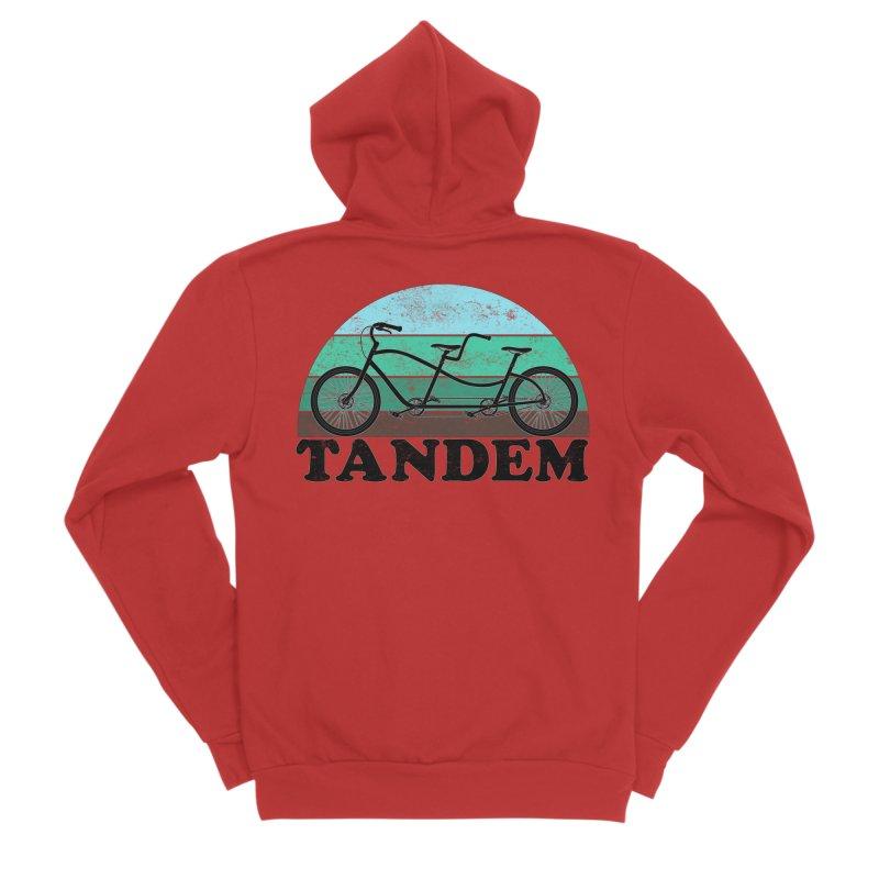 Tandem Bicycle Vintage Colors Women's Zip-Up Hoody by The Wandering Fools Artist Shop