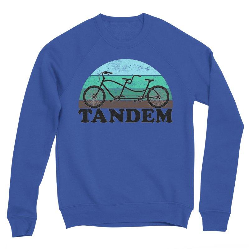 Tandem Bicycle Vintage Colors Men's Sweatshirt by The Wandering Fools Artist Shop