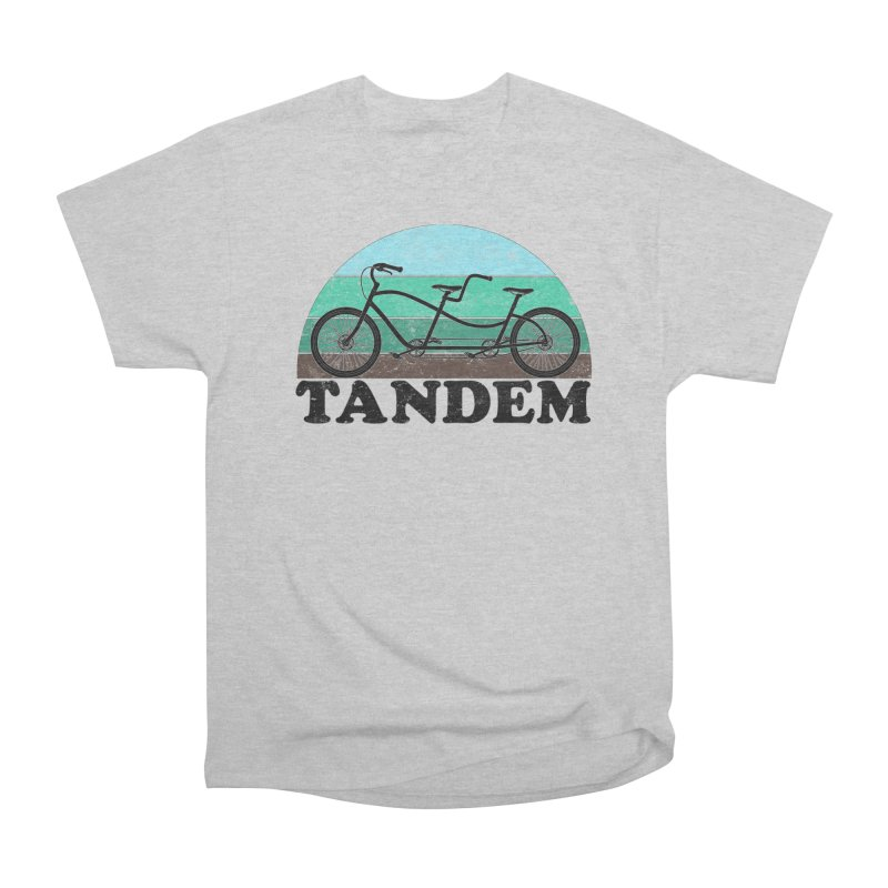Tandem Bicycle Vintage Colors Men's T-Shirt by The Wandering Fools Artist Shop