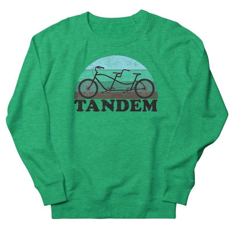 Tandem Bicycle Vintage Colors Women's Sweatshirt by The Wandering Fools Artist Shop