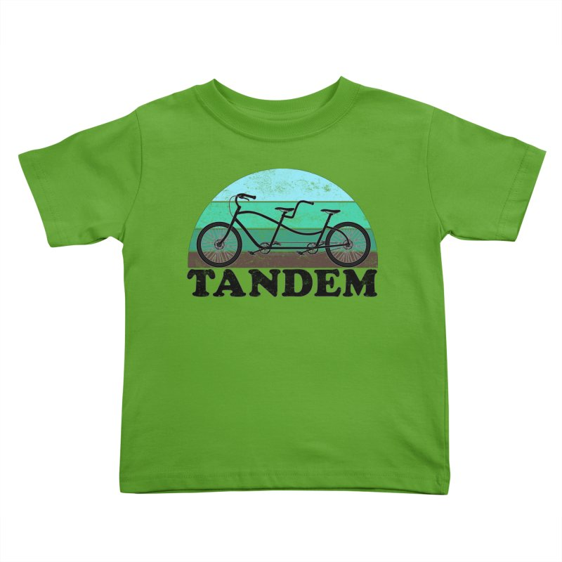 Tandem Bicycle Vintage Colors Kids Toddler T-Shirt by The Wandering Fools Artist Shop