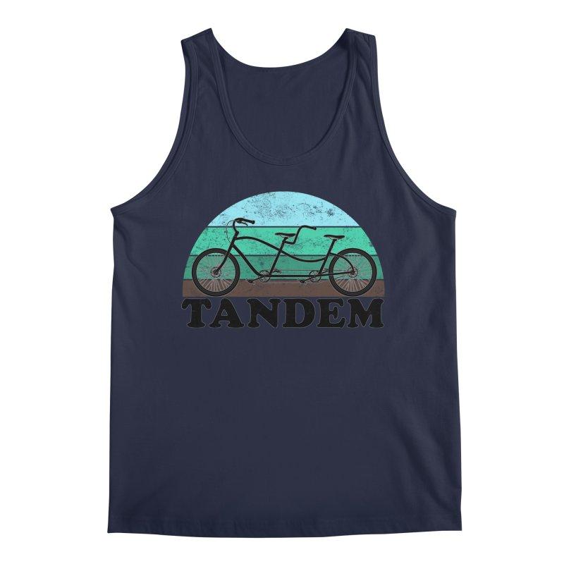 Tandem Bicycle Vintage Colors Men's Tank by The Wandering Fools Artist Shop