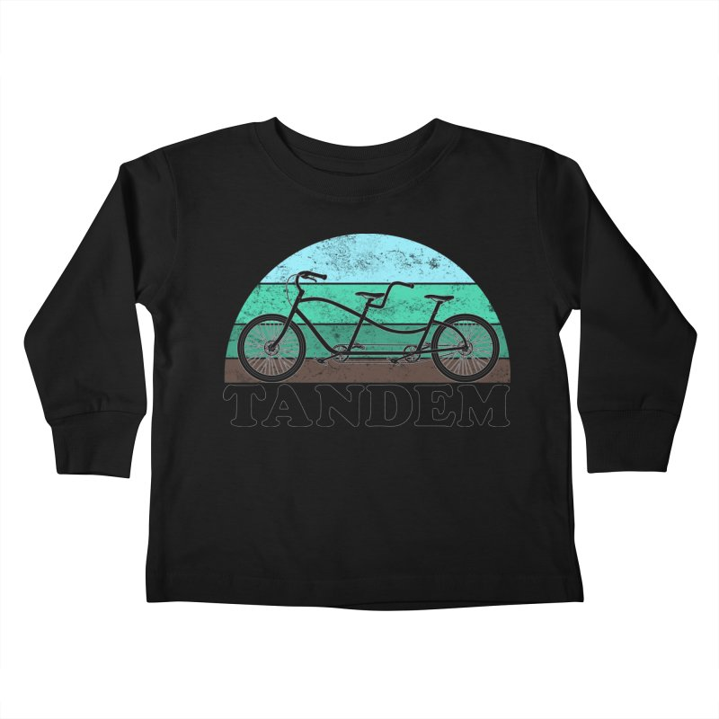 Tandem Bicycle Vintage Colors Kids Toddler Longsleeve T-Shirt by The Wandering Fools Artist Shop