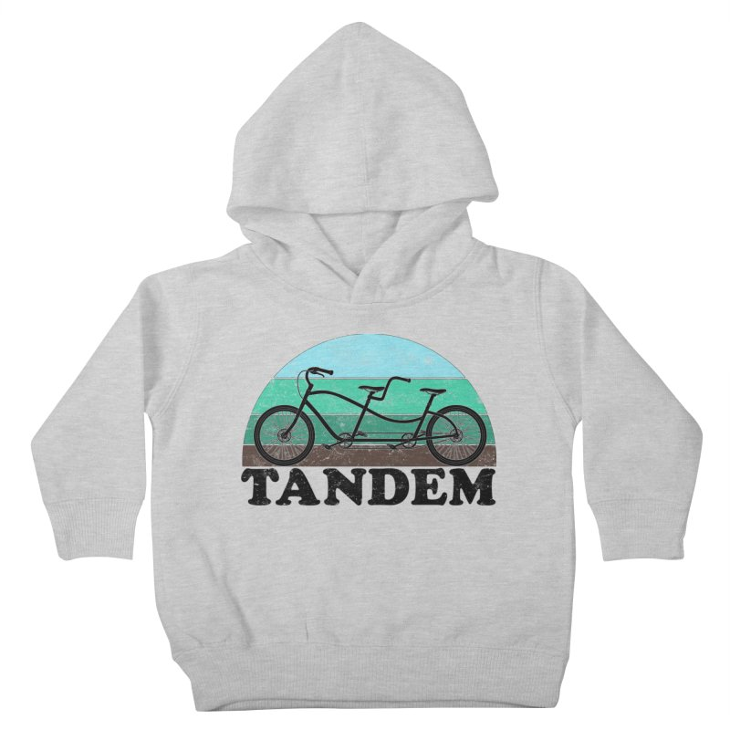 Tandem Bicycle Vintage Colors Kids Toddler Pullover Hoody by The Wandering Fools Artist Shop