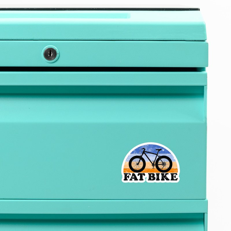 Fat Tire Bike Vintage Colors Accessories Magnet by The Wandering Fools Artist Shop