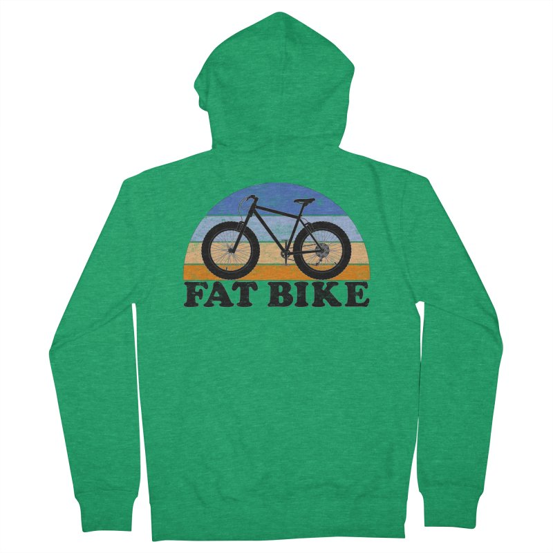 Fat Tire Bike Vintage Colors Men's Zip-Up Hoody by The Wandering Fools Artist Shop