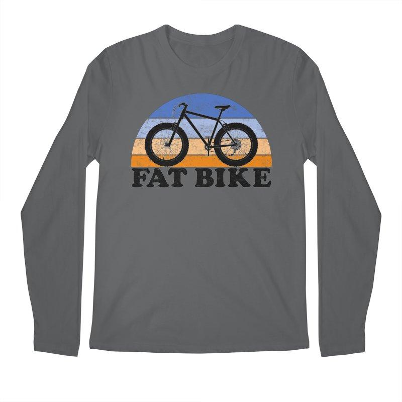 Fat Tire Bike Vintage Colors Men's Longsleeve T-Shirt by The Wandering Fools Artist Shop