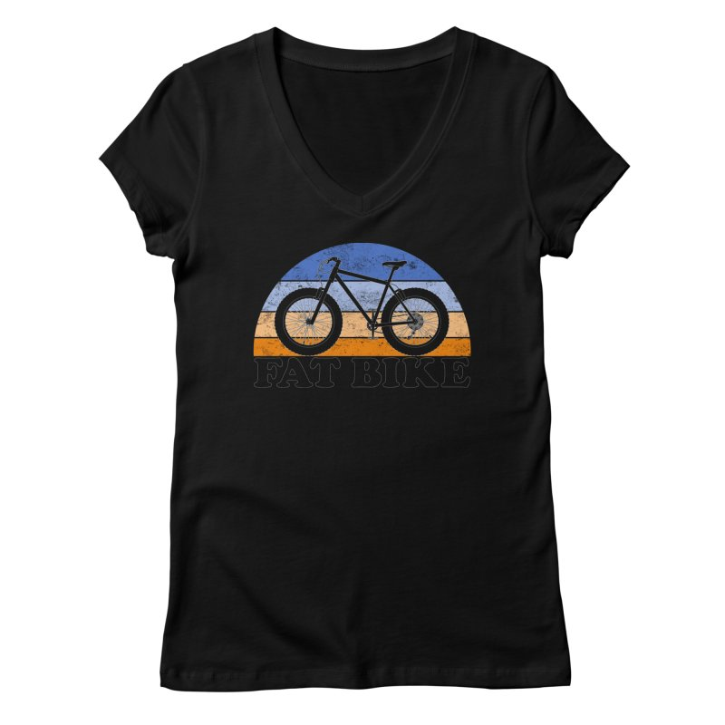 Fat Tire Bike Vintage Colors Women's V-Neck by The Wandering Fools Artist Shop