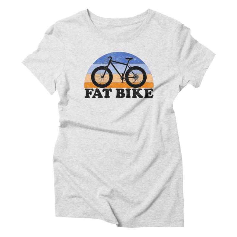 Fat Tire Bike Vintage Colors Women's T-Shirt by The Wandering Fools Artist Shop