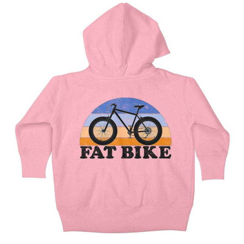 Fat Tire Bike Vintage Colors Kids Baby Zip-Up Hoody by The Wandering Fools Artist Shop