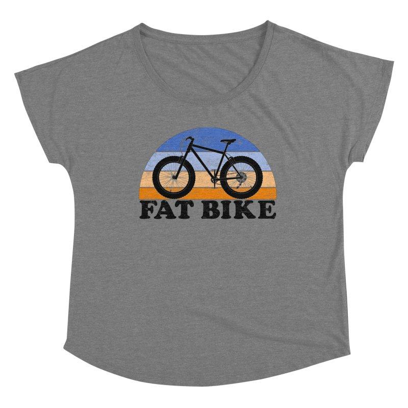 Fat Tire Bike Vintage Colors Women's Scoop Neck by The Wandering Fools Artist Shop