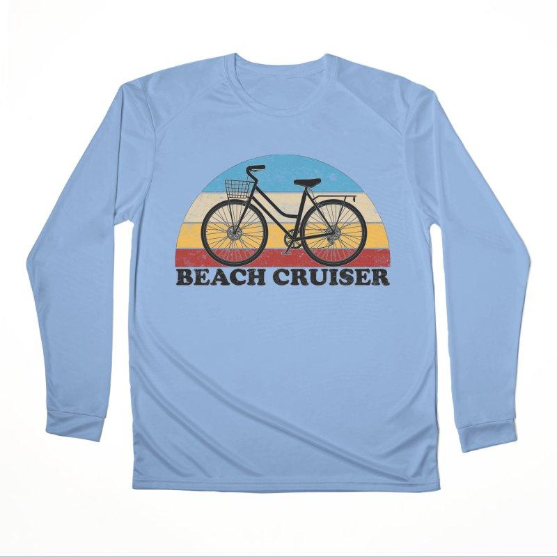 Beach Cruiser Bike Vintage Colors Women's Longsleeve T-Shirt by The Wandering Fools Artist Shop