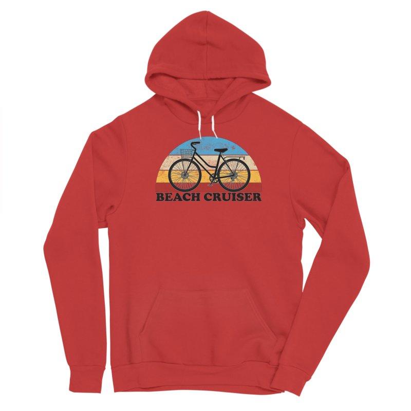 Beach Cruiser Bike Vintage Colors Men's Pullover Hoody by The Wandering Fools Artist Shop