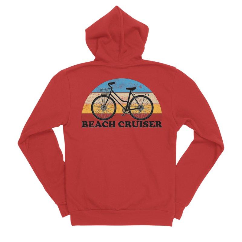 Beach Cruiser Bike Vintage Colors Men's Zip-Up Hoody by The Wandering Fools Artist Shop