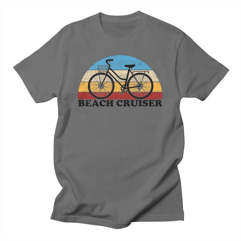 Beach Cruiser Bike Vintage Colors Men's T-Shirt by The Wandering Fools Artist Shop