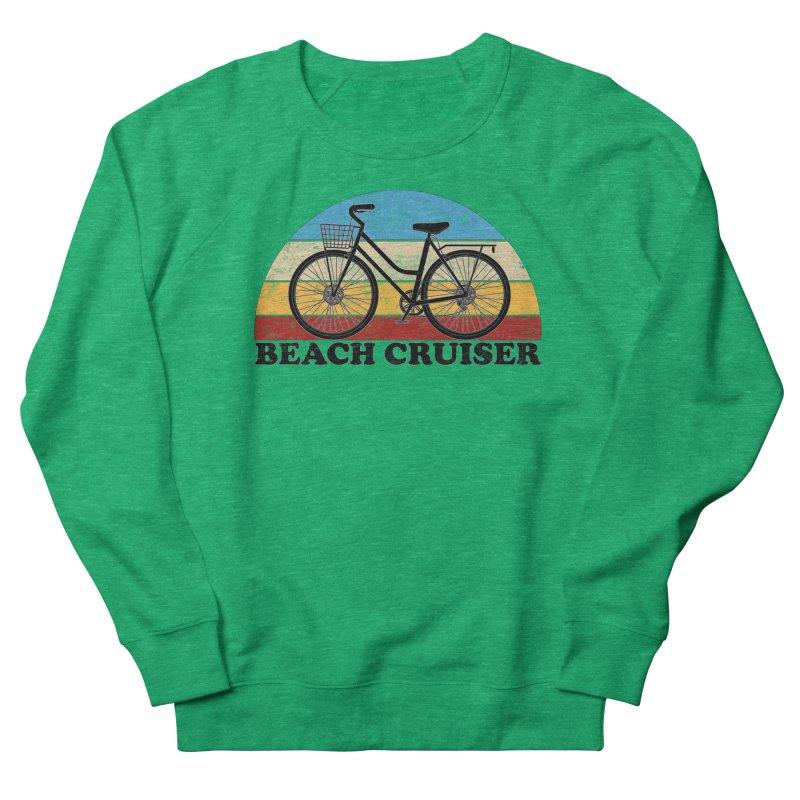 Beach Cruiser Bike Vintage Colors Women's Sweatshirt by The Wandering Fools Artist Shop