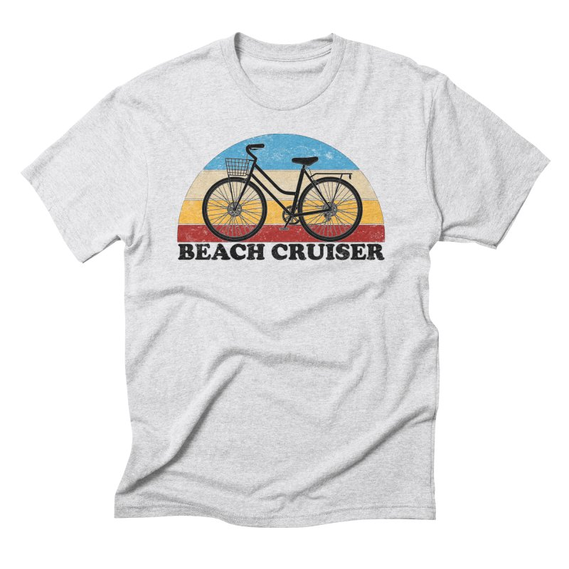Beach Cruiser Bike Vintage Colors Men's T-Shirt by The Wandering Fools Artist Shop
