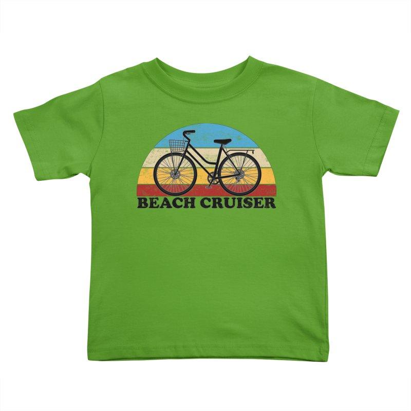 Beach Cruiser Bike Vintage Colors Kids Toddler T-Shirt by The Wandering Fools Artist Shop