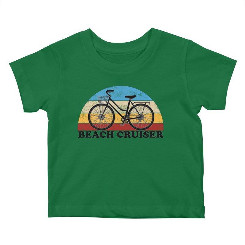 Beach Cruiser Bike Vintage Colors Kids Baby T-Shirt by The Wandering Fools Artist Shop