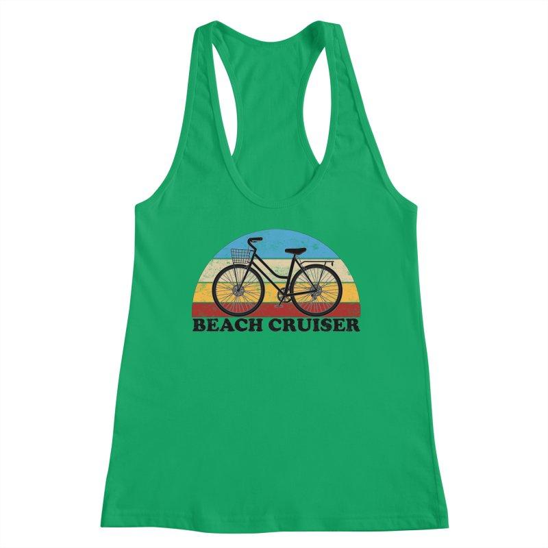 Beach Cruiser Bike Vintage Colors Women's Tank by The Wandering Fools Artist Shop