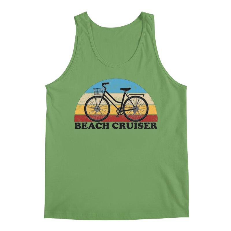 Beach Cruiser Bike Vintage Colors Men's Tank by The Wandering Fools Artist Shop