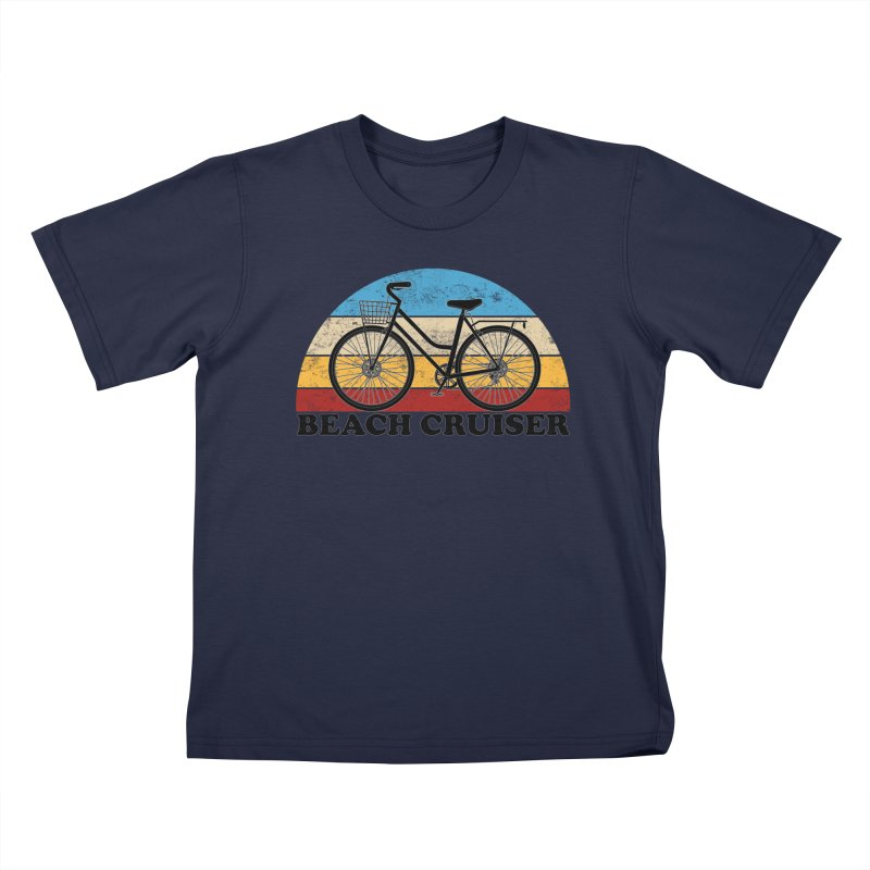 Beach Cruiser Bike Vintage Colors Kids T-Shirt by The Wandering Fools Artist Shop