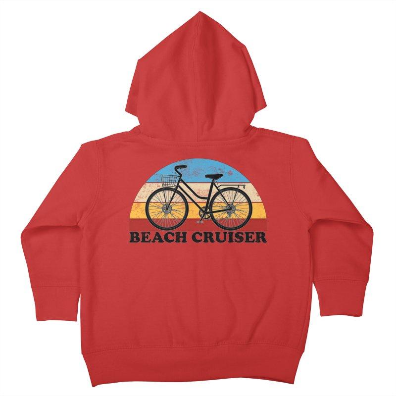Beach Cruiser Bike Vintage Colors Kids Toddler Zip-Up Hoody by The Wandering Fools Artist Shop