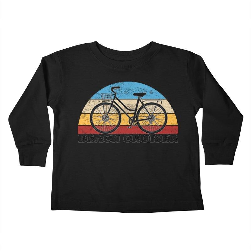 Beach Cruiser Bike Vintage Colors Kids Toddler Longsleeve T-Shirt by The Wandering Fools Artist Shop